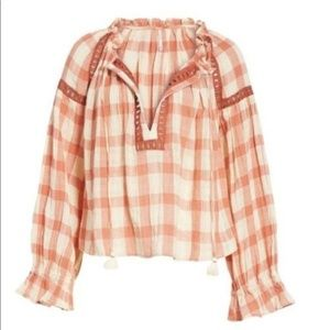 Free People Tops - New Free People Honey Grove Gingham Top Retail $98